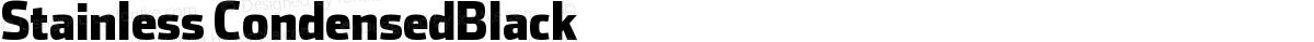 Stainless CondensedBlack