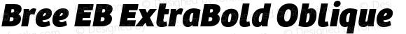 Bree EB ExtraBold Oblique