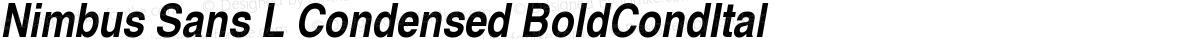 Nimbus Sans L Condensed BoldCondItal