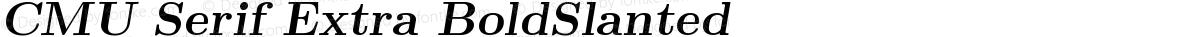 CMU Serif Extra BoldSlanted