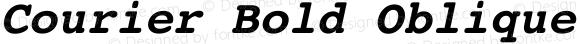 Courier Bold Oblique