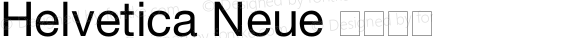 Helvetica Neue 超细斜体