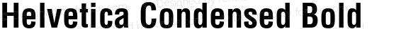 Helvetica Condensed Bold