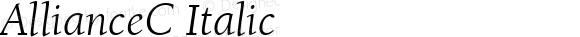 AllianceC Italic