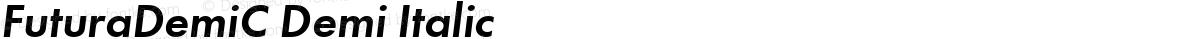 FuturaDemiC Demi Italic