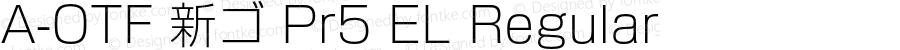 A-OTF 新ゴ Pr5 EL Regular Version 1.010;PS 1.1;Core 1.0.38;makeotf.lib1.6.6565