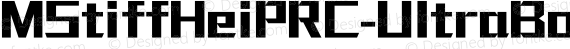 MStiffHeiPRC-UltraBold Regular preview image