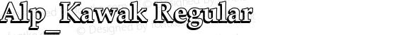 Alp_Kawak Regular Version 4.00 November 26, 2010