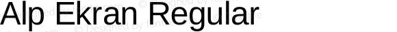 Alp Ekran Regular Version 4.00 October 18, 2010