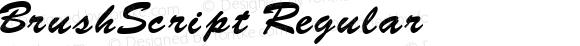 BrushScript Regular