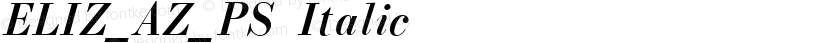 ELIZ_AZ_PS Italic Preview Image