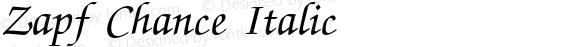 Zapf Chance Italic
