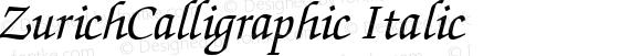 ZurichCalligraphic Italic