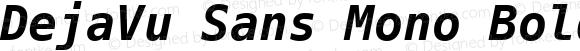 DejaVu Sans Mono Bold Oblique