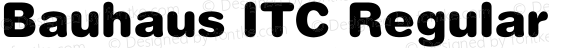 Bauhaus ITC Regular