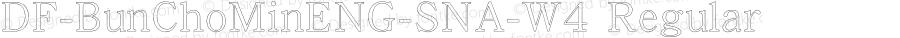 DF-BunChoMinENG-SNA-W4 Regular Version 1.000