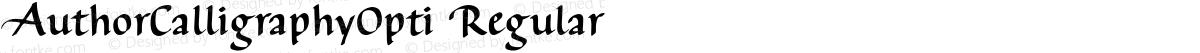 AuthorCalligraphyOpti Regular