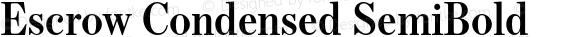 Escrow Condensed SemiBold
