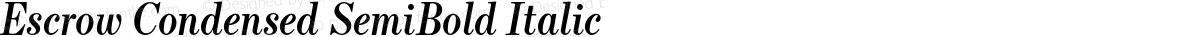 Escrow Condensed SemiBold Italic