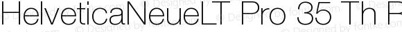 Helvetica Neue LT Pro 35 Thin
