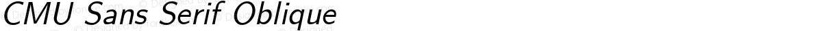 CMU Sans Serif Oblique