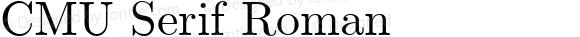 CMU Serif Roman