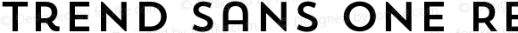 Trend Sans One Regular 1.000