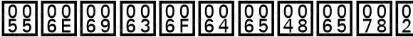 UnicodeHex Regular
