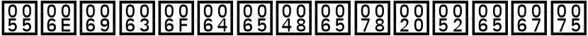 UnicodeHex Regular Preview Image