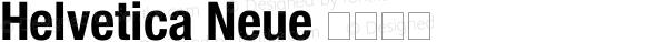 Helvetica Neue 紧缩粗体