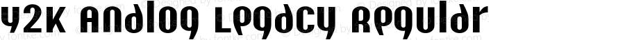 Y2K Analog Legacy Regular 1999; 1.0, initial release