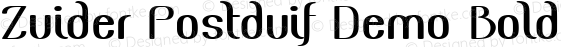 Zuider Postduif Demo Bold Version 1.002