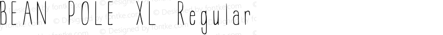 BEAN POLE XL Regular Version 1.00 September 26, 2010, initial release