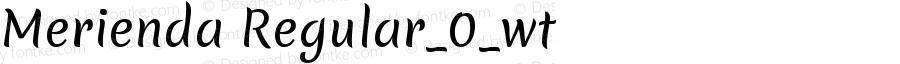 Merienda Regular_0_wt Version 1.001