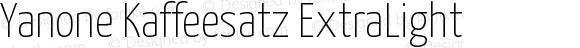 Yanone Kaffeesatz ExtraLight