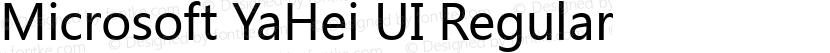 Microsoft YaHei UI Regular Preview Image