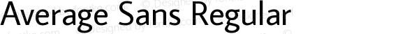 Average Sans Regular preview image