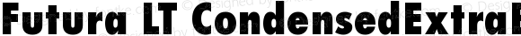 Futura LT CondensedExtraBold