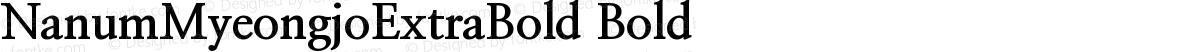 NanumMyeongjoExtraBold Bold