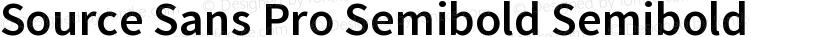 Source Sans Pro Semibold Semibold Preview Image