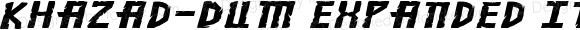 Khazad-Dum Expanded Italic Expanded Italic