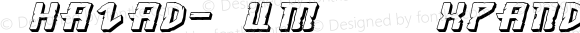 Khazad-Dum 3D Expanded Italic Dum3DExpandedItalic