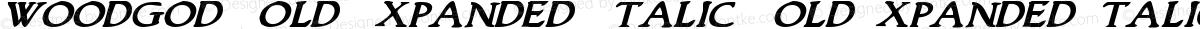 Woodgod Bold Expanded Italic BoldExpandedItalic
