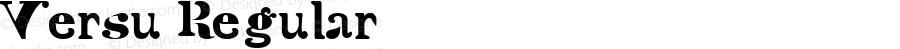 Versu Regular Macromedia Fontographer 4.1.5 20/3/04