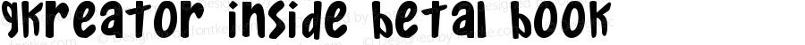 Gkreator Inside Beta1 Book Version Macromedia Fontograp