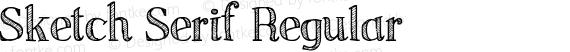Sketch Serif Regular preview image