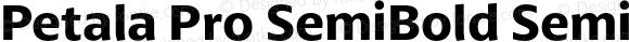 Petala Pro SemiBold SemiBold