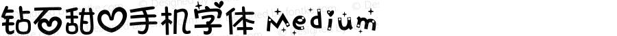钻石甜心手机字体 Medium 7.1d1e1