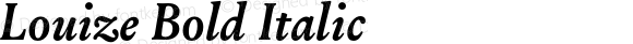 Louize-BoldItalic