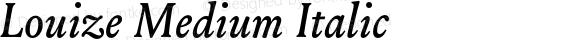 Louize-MediumItalic